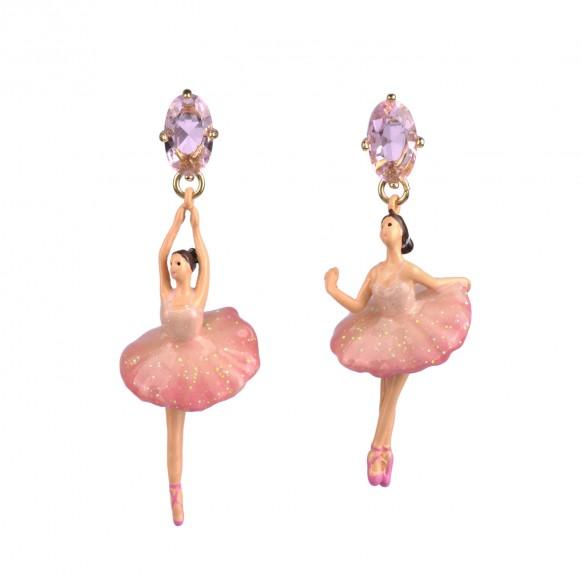 post-earrings-pas-de-deux-white-pink-stones-and-ballerina