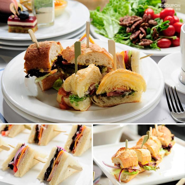 輕食-燻雞三明治+燻牛肉三明治
