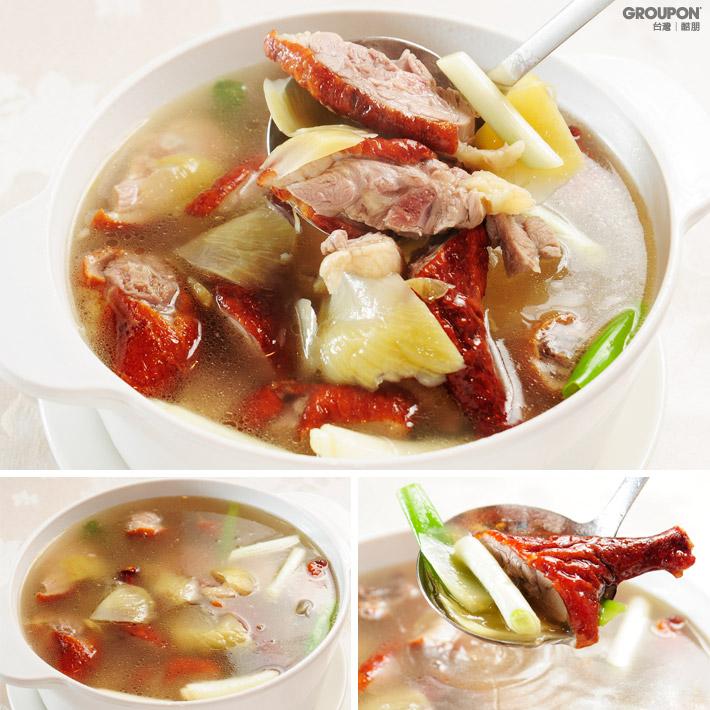 酸菜冬粉鴨架湯